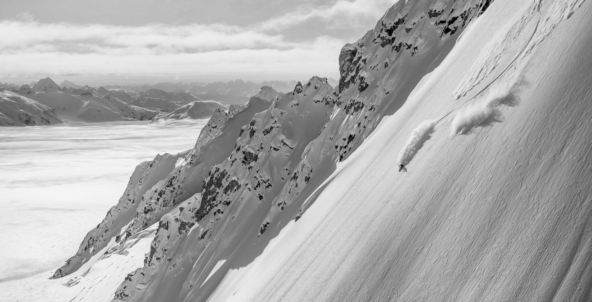 Working with Supervention II. Aksel Lund Svindal skiing in Alaska/Haines.