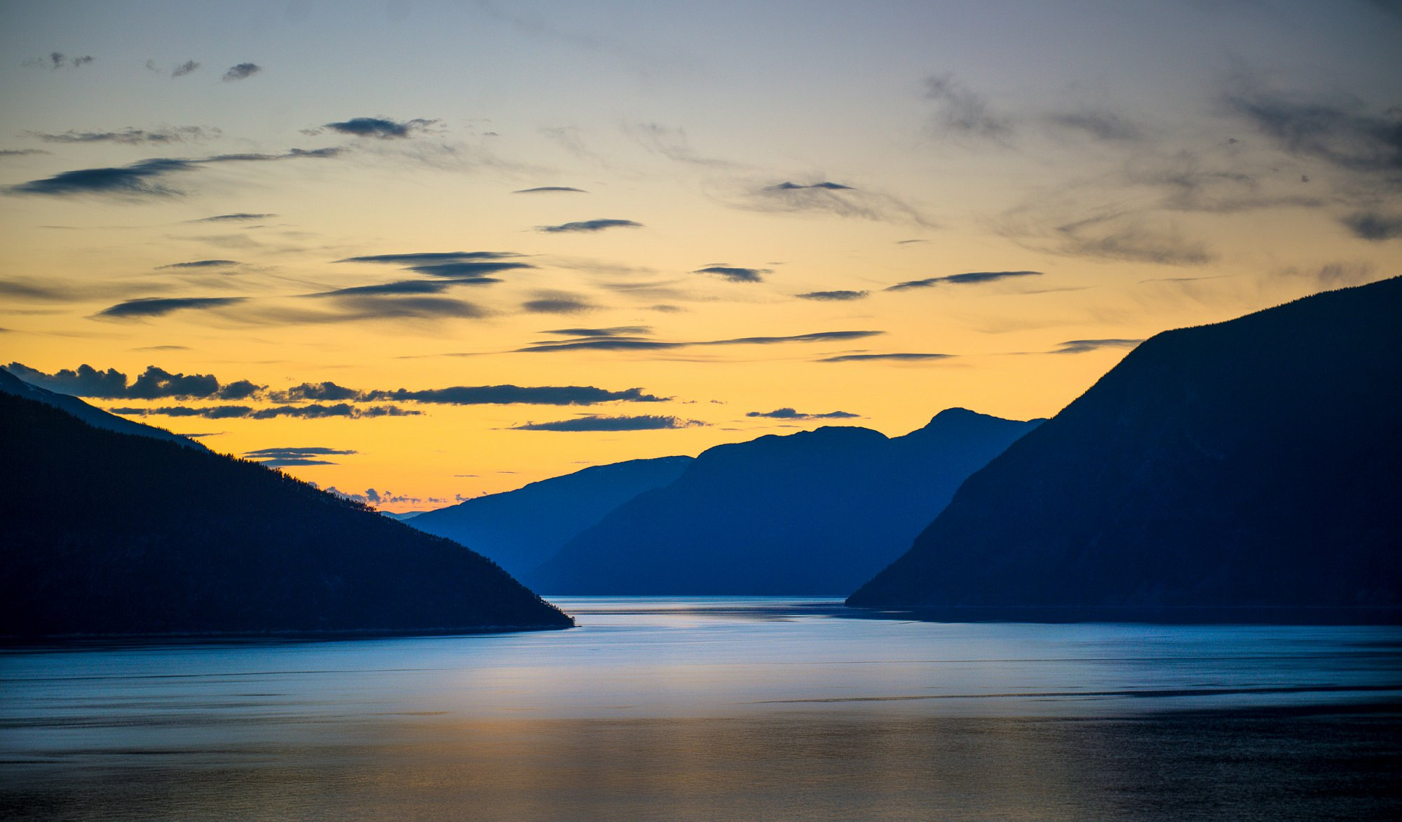 Evening by the Sognefjord. Client Fjord Norway.