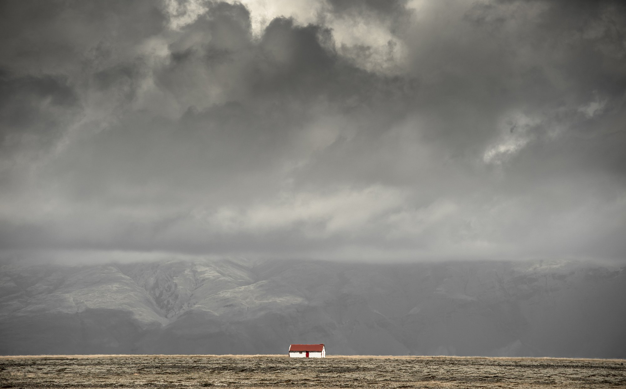 A small house on a big field in Iceland. Private project.