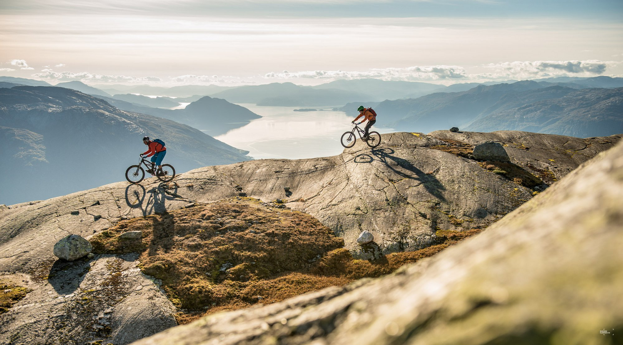 Biking with a view at Oksen/Hardangerfjord. Private project.